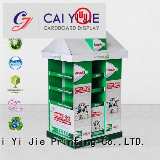 CAI YI JIE cardboard pallet display retail corrugated