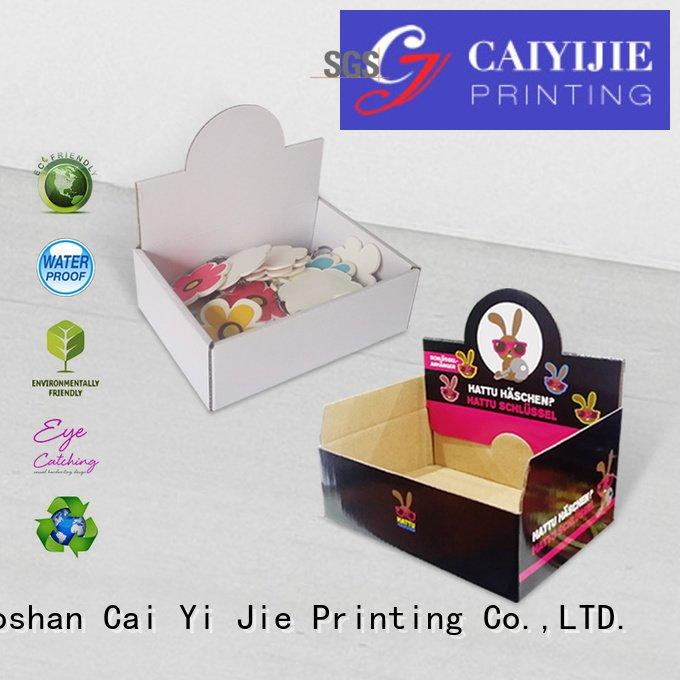 grocery cardboard printed CAI YI JIE custom cardboard counter displays