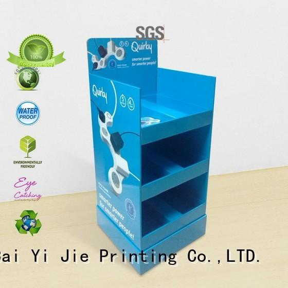 CAI YI JIE corrugated cardboard card display stair for promotion