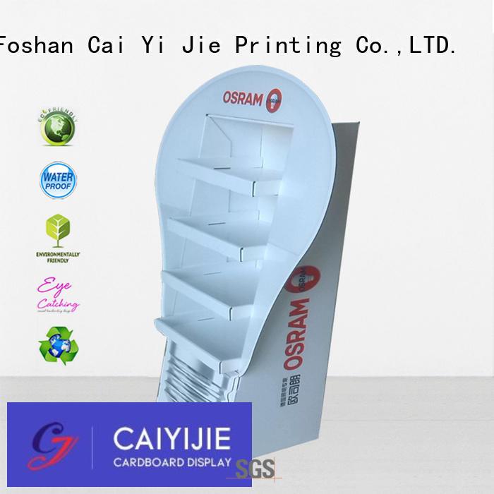 CAI YI JIE printed cardboard display pop for milk