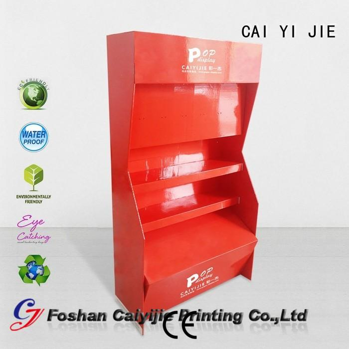 displays cardboard greeting card display stand tube floor CAI YI JIE Brand