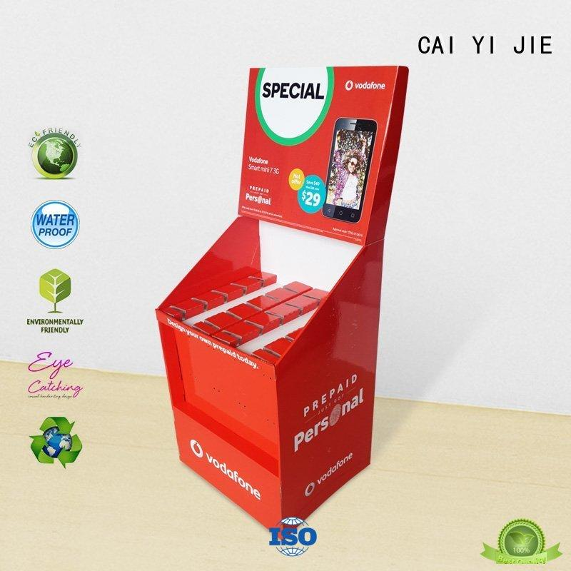 CAI YI JIE cardboard products wholesale for phone accessories