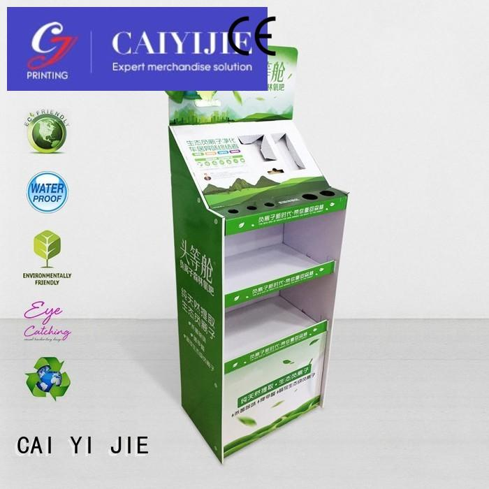 CAI YI JIE special custom cardboard display stands pop for electronic lights for grids