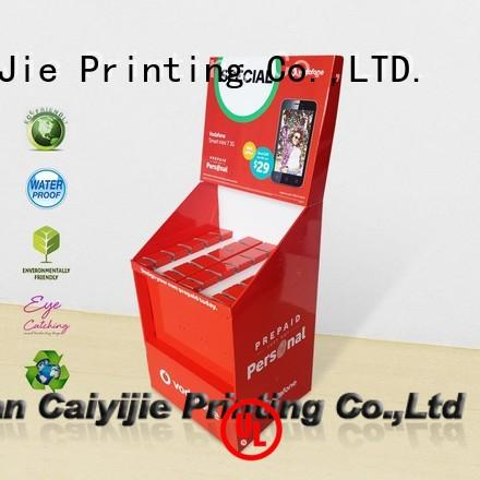 ODMcardboard free standing display units wholesale for perfume