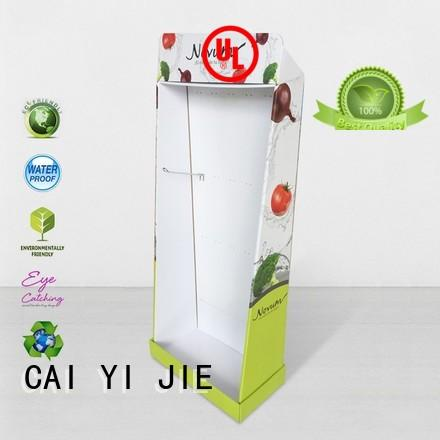 CAI YI JIE corrugated cardboard pos display stands