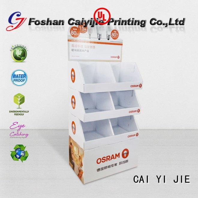 CAI YI JIE Brand pop plastic promotional cardboard greeting card display stand