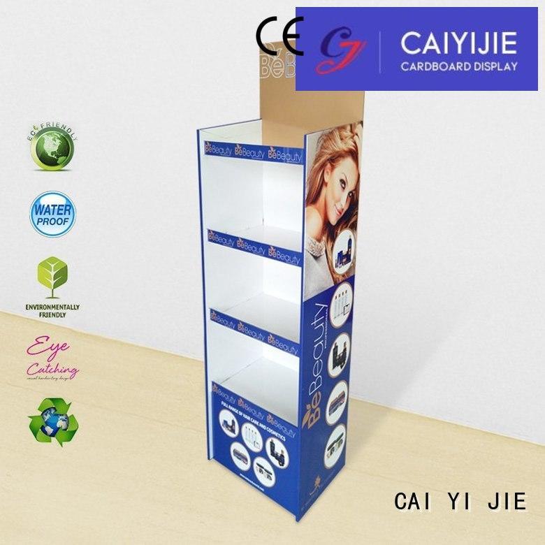 space retai stairglossy cardboard stand CAI YI JIE Brand company
