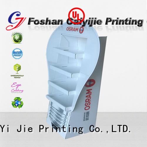 clip pop cardboard greeting card display stand CAI YI JIE Brand
