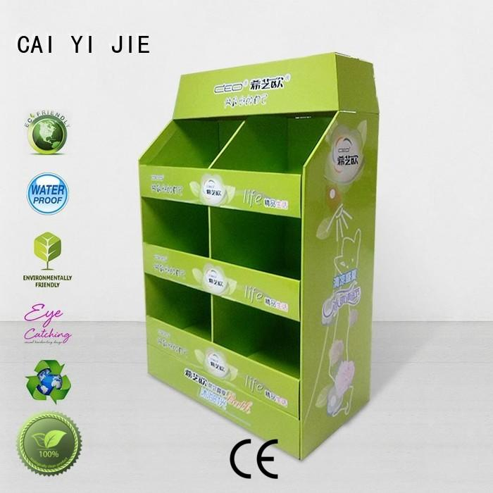 CAI YI JIE fsdu cardboard pallet boxes for sale paper stand for stores