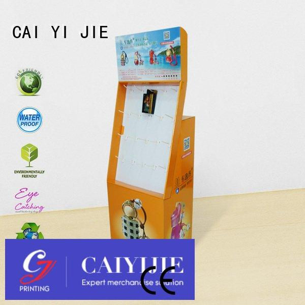 printing display marketing stands CAI YI JIE counter hook display stand