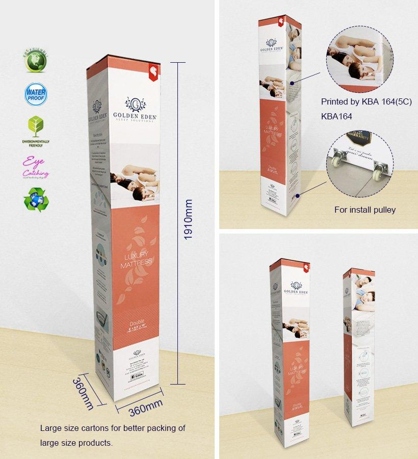 Paper Packaging Box For Luxury Mattress