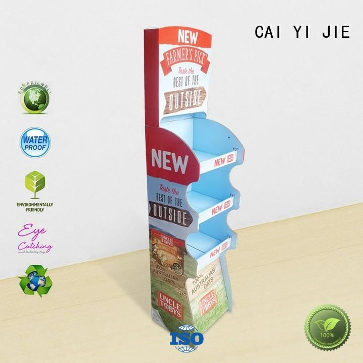 CAI YI JIE custom cardboard display stands stands fordrink