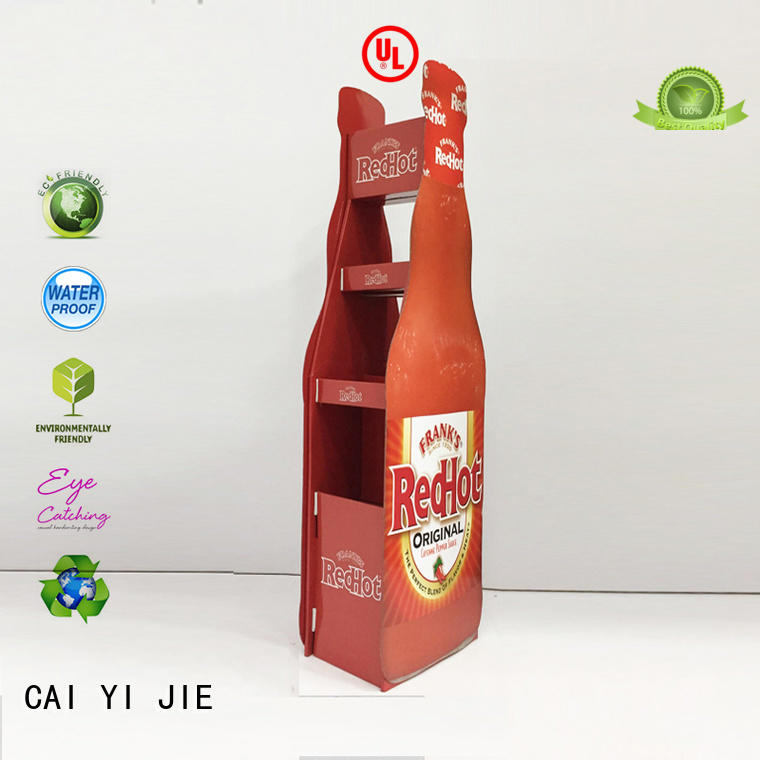 CAI YI JIE large cardboard display shelves sale for electronic lights for grids