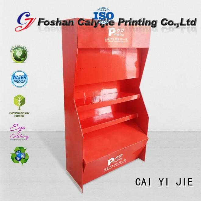 chain Custom clip step cardboard stand CAI YI JIE color
