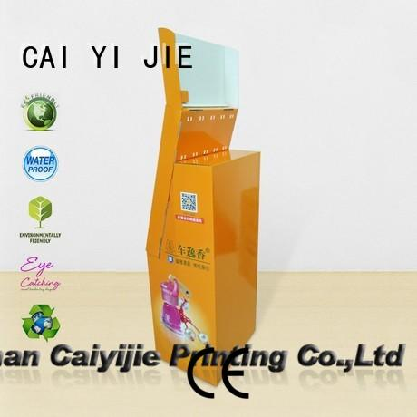 full color counter hook display stand cardboard display for supermarket CAI YI JIE