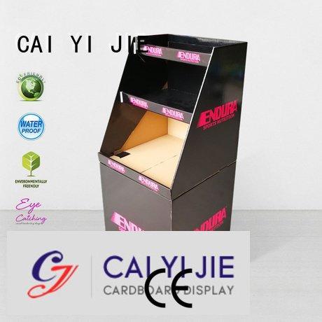 cheese merchandising cardboard dump bins for retail CAI YI JIE