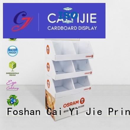 Custom cardboard cardboard stand stiand CAI YI JIE