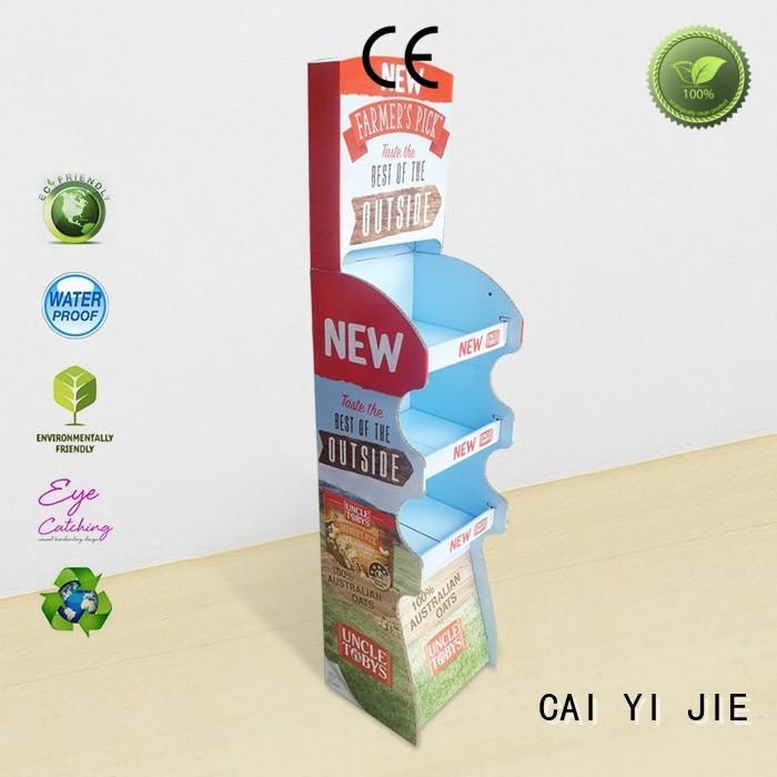 CAI YI JIE multifunctional cardboard display units point for paper shelf
