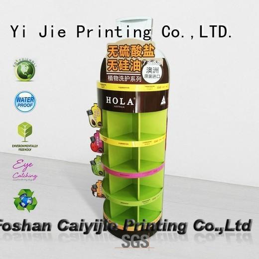 stand corrugated floor displays floor CAI YI JIE