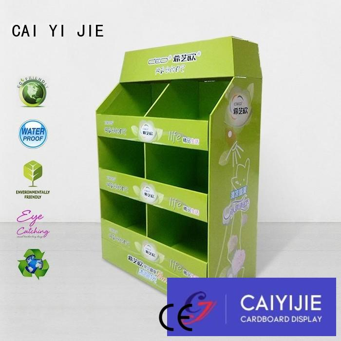 CAI YI JIE Brand square cardboard easy pallet display manufacture