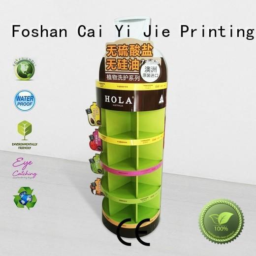CAI YI JIE Brand display retail cardboard stand manufacture