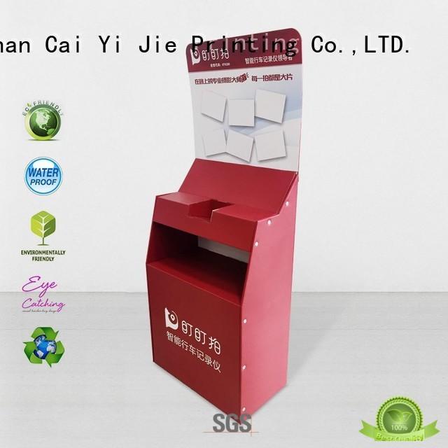CAI YI JIE super cardboard floor stands cardboard