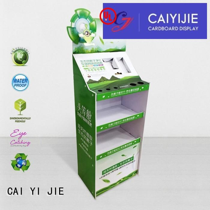 glossy cardboard display racks stiand for paper shelf CAI YI JIE