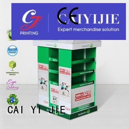 carton pallet display racks for shop CAI YI JIE