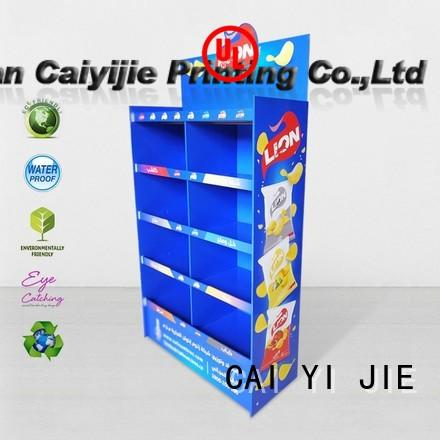 stiand cardboard display shelves special for store CAI YI JIE