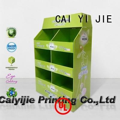 CAI YI JIE Brand mobile pallet cardboard pallet display