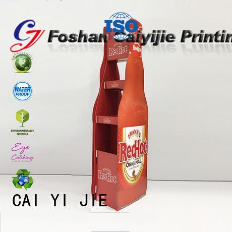 corrugated cardboard display demo for promotion