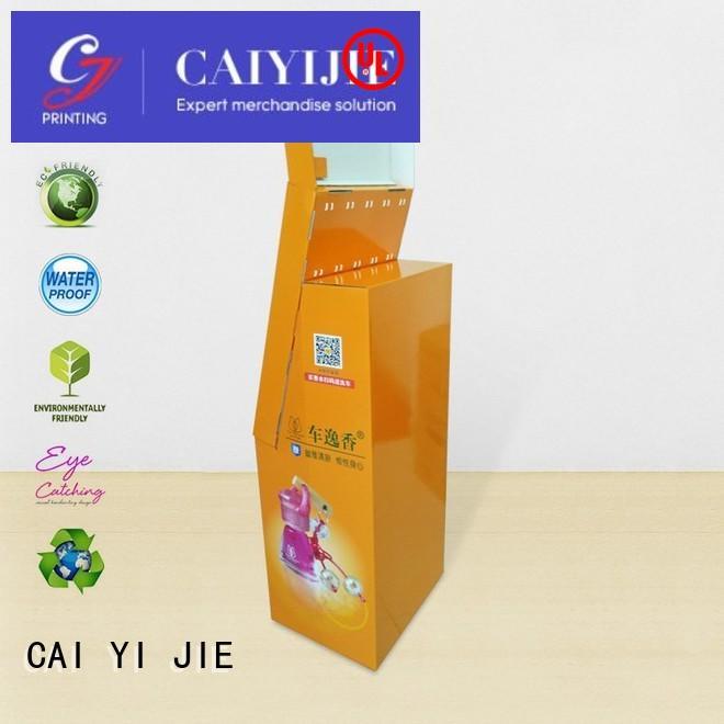 OEM cardboard hook display cardboard display for perfume CAI YI JIE