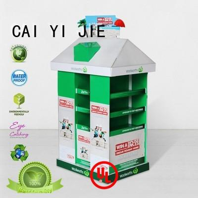 CAI YI JIE cardboard pallet display woolworths for chain store