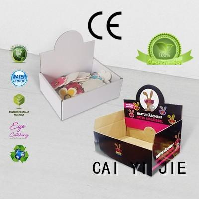 CAI YI JIE cardboard display boxes stands boxes for products