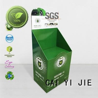 CAI YI JIE retail custom cardboard display stands chip for kitchen supplies