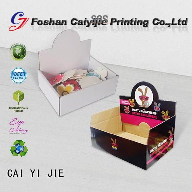 product promotional displays cardboard display boxes CAI YI JIE Brand company
