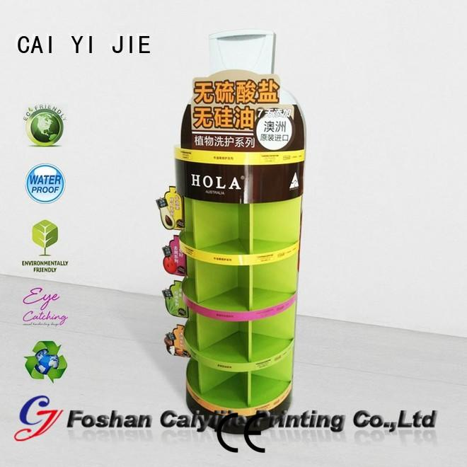 CAI YI JIE corrugated cardboard display shelves products for promotion