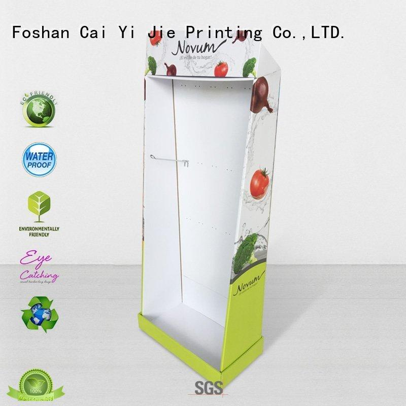 CAI YI JIE super cardboard pop up displays products for milk