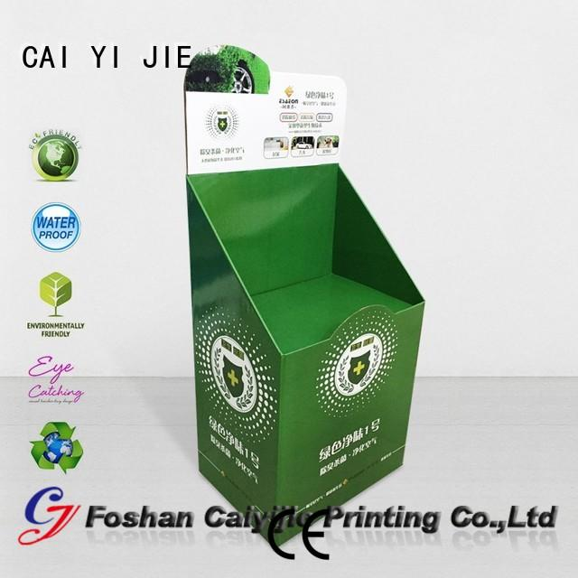 CAI YI JIE Brand space displays cardboard stand manufacture