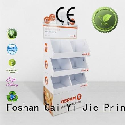 CAI YI JIE heavy cardboard display for beer