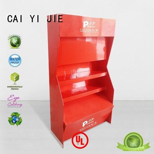 display fashion cardboard stand displays CAI YI JIE Brand