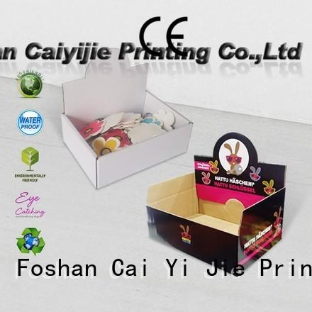 cardboard counter display boxes packaging for products CAI YI JIE