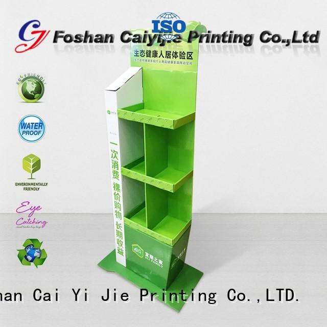 CAI YI JIE cardboard floor display products for electronic lights for grids