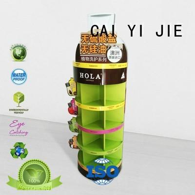 CAI YI JIE stainless tube cardboard poster stand uv for store