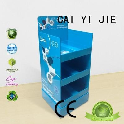 plastic custom cardboard display stands space