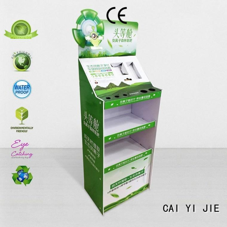 CAI YI JIE custom cardboard display stands space for supermarket