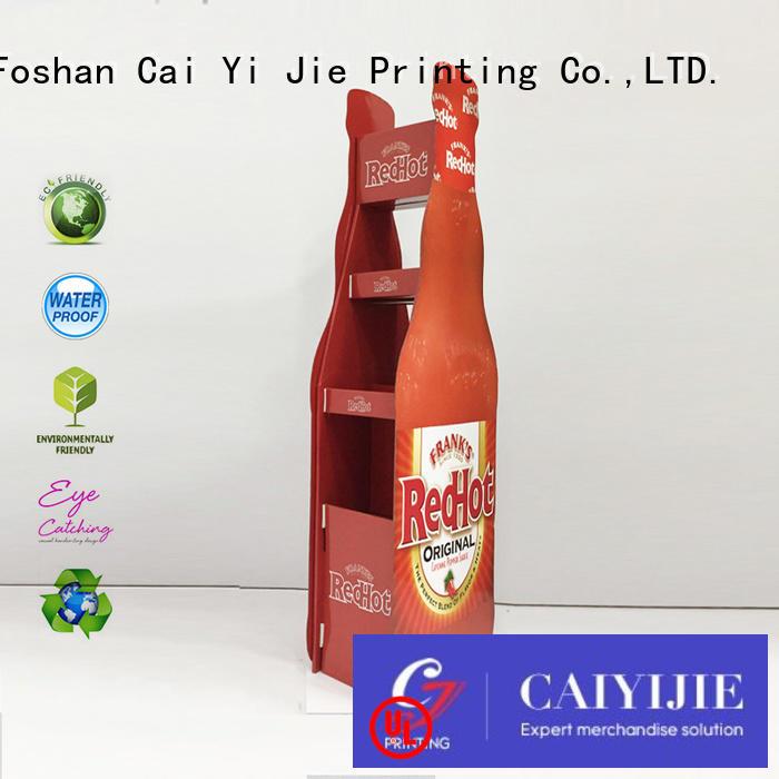 cardboard stands displays CAI YI JIE Brand cardboard greeting card display stand factory