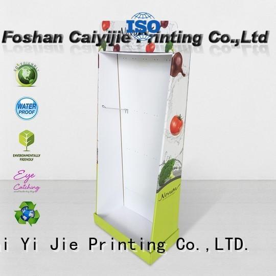 retai cardboard book display point for cabinet CAI YI JIE