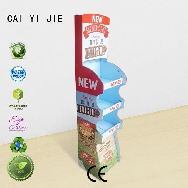step sale floor cardboard stand stair CAI YI JIE