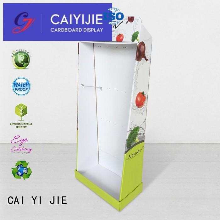 clip color printing tube cardboard stand CAI YI JIE